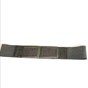 3/$15 Pewter Elastic Rhinestone Stretch Belt